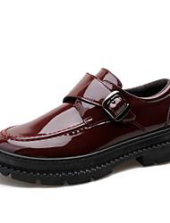 Недорогие -Муж. Кожаные ботинки Кожа Наступила зима На каждый день Мокасины и Свитер Сохраняет тепло Черный / Вино