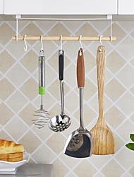 baratos -barra de cozinha com cinco ganchos armazenamento rack de panelas titular cozinha organização zwj005