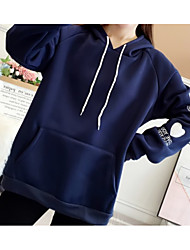 cheap -women's going out long sleeve loose hoodie - letter hooded