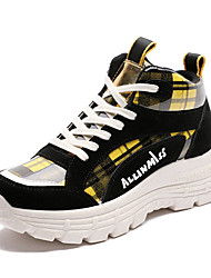 Недорогие -Жен. Сетка Осень На каждый день Спортивная обувь Беговая обувь На плоской подошве Круглый носок Черный / Красный / Черный / Желтый / Контрастных цветов