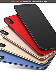Недорогие -Кейс для Назначение Apple iPhone XR / iPhone XS Max Ультратонкий / Матовое Кейс на заднюю панель Однотонный Твердый ПК для iPhone XS / iPhone XR / iPhone XS Max