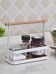baratos -cozinha armazenamento rack de panelas titular cozinha organização com alça zwj007