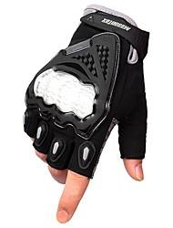 Недорогие -Half-палец Муж. Мотоцикл перчатки Дышащая сетка Износостойкий / Защитный / Non Slip