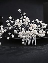 billige -Legering Hair Combs med Imitationsperler 1 Stykke Bryllup / Dagligdagstøj Medaljon