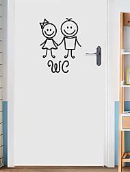 Недорогие -Декоративные наклейки на стены - Простые наклейки Рождество Гостиная / Спальня / Ванная комната