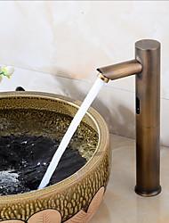abordables -robinet lavabo de salle de bains - capteur antique libre debout mains libre robinets de bain monotrou