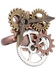 رخيصةأون -نسائي لون القهوة فينتاج خاتم - مسننة Steampunk قابل للتعديل كوفي من أجل مناسب للبس اليومي مناسب للعطلات