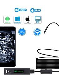 """Недорогие -Wi-Fi эндоскоп 1200p 2 метра жесткий провод 1/5 """"ccd эндоскоп камера ip68 / ip67"""