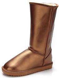 billige -Herre Snøstøvler Lær Høst vinter Fritid / Britisk Støvler Hold Varm Støvletter Gull / Svart