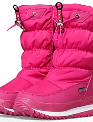 billige -Pige Sko Denim / Syntetisk Vinter Snestøvler / Modestøvler Støvler for Børn / Teenager Hvid / Sort / Lys pink / Støvletter