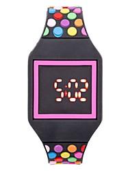 Недорогие -Для пары Наручные часы Цифровой силиконовый Черный / Белый / Синий Календарь Секундомер Фосфоресцирующий Цифровой Кольцеобразный Цветной - Пурпурный Зеленый Синий Один год Срок службы батареи