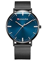 Недорогие -Муж. Наручные часы Японский Японский кварц 30 m Защита от влаги Повседневные часы Нержавеющая сталь Группа Аналоговый На каждый день Черный - Черный Синий