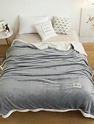 Недорогие -Одеяла, Сплошной цвет 100%микро волокно Сгущать одеяла