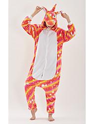 abordables -Adulte Pyjamas Kigurumi Unicorn Animé Combinaison de Pyjamas fibre de polyester Arc-en-ciel Cosplay Pour Homme et Femme Pyjamas Animale Dessin animé Fête / Célébration Les costumes