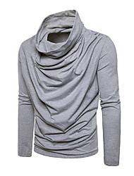 tanie -Męskie Codzienny / Sport Podstawowy / Moda miejska Solidne kolory Długi rękaw Regularny Sweter rozpinany, Golf Ciemnoszary / Granatowy / Jasnoszary L / XL / XXL