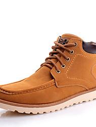 Недорогие -Муж. Комфортная обувь Искусственная кожа Осень На каждый день Ботинки Черный / Синий / Хаки