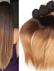 Недорогие -3 Связки Индийские волосы Прямой 10A человеческие волосы Remy Накладки из натуральных волос 8-26 дюймовый Ткет человеческих волос Мягкость Лучшее качество Новое поступление