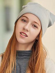 Недорогие -Жен. Активный / Праздник Вязаная шапочка / Широкополая шляпа Однотонный