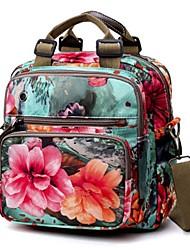 baratos -Mulheres Bolsas Poliéster mochila Estampa Verde / Vermelho