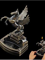Недорогие -пегас пепельница металлический конь крылья зажигалка пепел лоток дом офис идея подарок