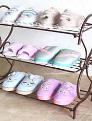 Недорогие -Полка / крючки для обуви Железо 2 пары Универсальные Шоколадный / Белый / Черный