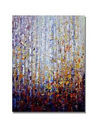 Недорогие -styledecor® современная ручная роспись абстрактной цветной лесной масляной живописи на холсте для настенного искусства, готовая повесить искусство