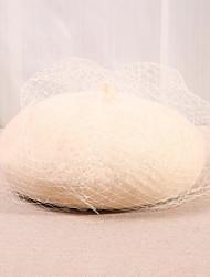 Недорогие -Трикотаж / Искусственная шерсть Головные уборы / Аксессуары для волос с Кепки / Однотонные 1 шт. Свадьба / На каждый день Заставка