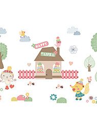 Недорогие -Декоративные наклейки на стены - Простые наклейки Животные / Цветочные мотивы / ботанический Столовая / Детская