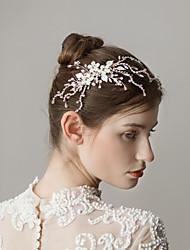 billige -Legering Hair Combs med Bjergkrystal 1 Stykke Bryllup / Fest / aften Medaljon