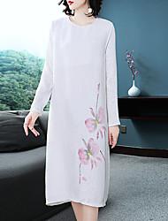 abordables -Femme Chinoiserie Courte Robe Midi