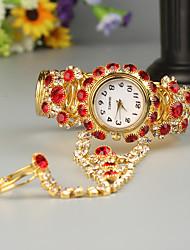 Недорогие -FEIS Жен. Часы-браслет Кварцевый Золотистый Секундомер Аналого-цифровые Дамы Мода - Красный