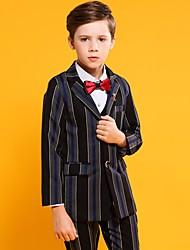 Недорогие -Черный Хлопок / Полиэфир / Вискоза Детский праздничный костюм - 1 комплект Включает в себя смокинг