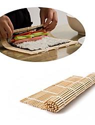 Недорогие -Японский суши ролл бамбуковый коврик ручной ролик сделай сам рисовая форма 24 см