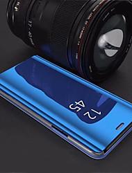 Недорогие -Кейс для Назначение SSamsung Galaxy S9 Plus / S8 Plus со стендом / Покрытие / Зеркальная поверхность Кейс на заднюю панель Однотонный Твердый Акрил для S9 / S9 Plus / S8 Plus