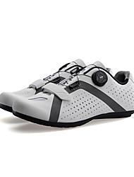Недорогие -SANTIC Обувь для шоссейного велосипеда Противозаносный, Амортизация, Вентиляция Велосипедный спорт / Велоспорт / Для велоспорта Белый / Черный / Зеленый Муж. Обувь для велоспорта / Ультралегкий (UL)