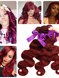 Fargede hairextensions