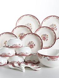 Недорогие -26 шт Глубокие тарелки Обеденные тарелки Стеклянная посуда посуда Фарфор Керамика Творчество Новогодняя тематика Креатив