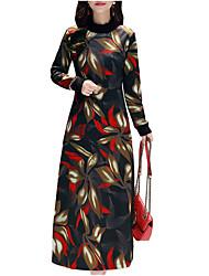 Недорогие -Жен. Элегантный стиль Оболочка Платье - Цветочный принт Средней длины