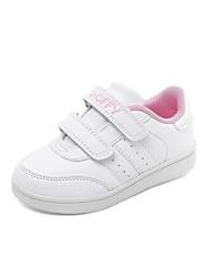 abordables -Fille Chaussures Polyuréthane Printemps & Automne Confort Basket Scotch Magique pour Enfants / Adolescent Rose dragée clair / Blanc / argent