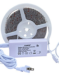 Недорогие -JIAWEN 5 метров RGB ленты 300 светодиоды 5050 SMD RGB Водонепроницаемый / Можно резать 100-240 V 1 комплект / IP65