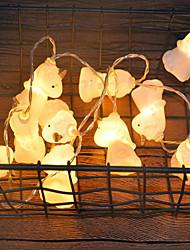 hesapli -3M Dizili Işıklar 20 LED'ler Sıcak Beyaz Dekorotif AA Bataryalar Powered 1set