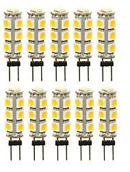 abordables -SENCART 10pcs 3 W 180 lm G4 LED à Double Broches T 13 Perles LED SMD 5050 Décorative Blanc Chaud / Blanc / Rouge 12 V
