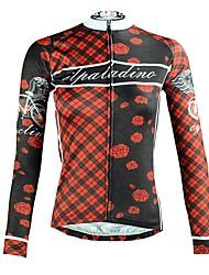 tanie -ILPALADINO Damskie Długi rękaw Koszulka rowerowa - Czarny Moda Rower Top Odporność na promieniowanie UV Sport Zima Elastyna Kolarstwo górskie Kolarstwie szosowym Odzież