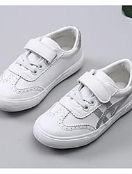 abordables -Garçon / Fille Chaussures Polyuréthane Printemps & Automne Confort Basket Scotch Magique pour Enfants Or / Noir / Argent