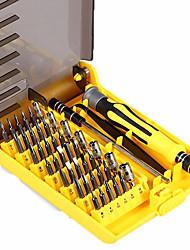 abordables -6089a 45 en 1 outils de tournevis interchangeables outils de réparation de téléphone / pc / appareil photo professionnel avec tige de rallonge dure