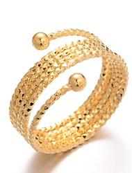 Недорогие -Жен. Классический Кольцо Регулируемое кольцо - Позолота Дамы, Роскошь, гипербола, Мода Бижутерия Золотой Назначение Свадьба Подарок