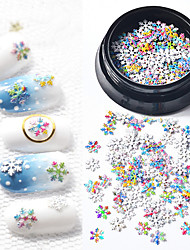 voordelige -1 pcs Nagelsieraden Slim ontwerp Sneeuwvlok Nagel kunst Manicure pedicure Kerstmis / Festival Kleurrijk
