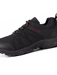 hesapli -Erkek Ayakkabı PU Sonbahar Günlük Atletik Ayakkabılar Dağ Yürüyüşü Günlük için Siyah / Gri