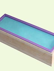 cheap -1pc Wood Silica Gel Creative Kitchen Gadget Kitchen Rectangular Dessert Tools Bakeware tools