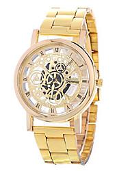Недорогие -Муж. Наручные часы Кварцевый Серебристый металл / Золотистый Повседневные часы Аналоговый Мода Цветной - Золотой Серебряный Один год Срок службы батареи